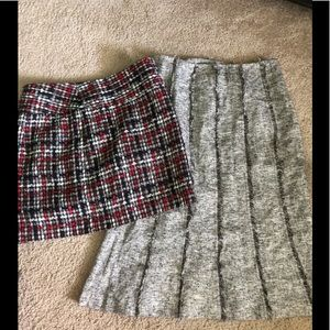 The Limited Plaid and Tweed Skirts Size 0